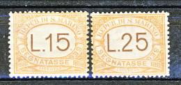 San Marino Tasse 1927-28 Mezza Serie N. 28 - 29 MNH - Segnatasse