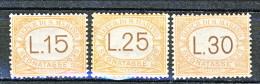 San Marino Tasse 1927-28 Mezza Serie N. 28 - 30 MH - Segnatasse