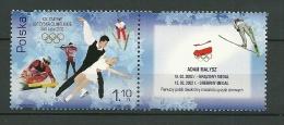 POALND MNH ** 3717 Jeux Olympiques D´hiver De Salt Lake City, Etats Unis, Adam Malysz, Ski Skieur, Patinage, Médaille - Nuovi