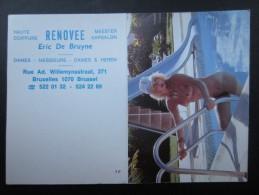 PETIT CALENDRIER 1990 (M1502) JOLIE FILLE BLONDE NUE SORTANT DE LA PISCINE (3 Vues) Salon De Coiffure à 1070 Bruxelles - Tamaño Pequeño : 1981-90