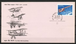 INDIEN -FDC  806 - Fliegen Und Gleiten - FDC