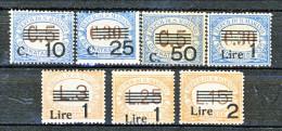 San Marino Tasse 1936-39 Serie Colori Azzurro E Arancio Sovrastampata N. 47 - 53 MNH - Segnatasse