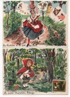 JANICOTTE - 2 CP - La Laitière Et Le Pot Au Lait - Le Petit Chaperon Rouge  (75746) - Andere Zeichner