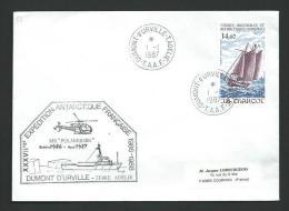 TT 57 - TAAF - M/S POLARBJORN - Dumont D´Urville 1/1/1987 - XXXVII Expédition Antarctique Française - Brieven En Documenten