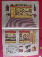 Découpage Diorama à Construire. Marchand De Jouets Bateau Avion Poupée Ours Train Quilles 1938 - Vieux Papiers