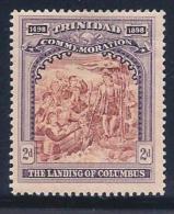 Trinidad, Scott # 91 Mint Hinged Landing Of Columbus, 1898, Light Crease - Trinidad & Tobago (...-1961)