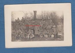 CPA Photo - Prés Du Front - Groupe De Poilu Du 204e Régiment - Fanfare Clarinette Tambour Trompette - WW1 - TOP - Oorlog 1914-18