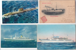 Lot 20 Cpa Bateaux Navires Variés Très Bon état Général - Otros