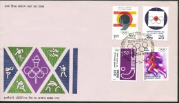 INDIEN -FDC   Mi.Nr.  680 - 683    Olympische Sommerspiele, Montreal - FDC