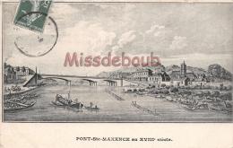 60 -  PONT SAINT MAXENCE Au XVIII Siècle - Illustration -  2 Scans - Pont Sainte Maxence