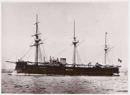 Marine fran�aise - Photographie de la fr�gate cuirass�e FRIEDLAND (1873-1904) - Photo Marius Bar
