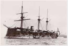 Marine fran�aise - Photographie de la fr�gate cuirass�e OCEAN (1868-1894) - Photo Marius Bar