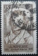 France N°310 ANDRE-MARIE AMPERE Oblitéré - Célébrités
