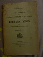 MUSÉE Du CAIRE 1927- NOTICE DES OBJETS DE LA TOMBE DE TOUTANKHAMON *Après Découverte/ Archéologie Orientale - Arqueología