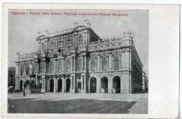 ITALIE . TORINO . PIAZZA CARLO ALBERTO FACCIATA MODERNA DEL PALAZZO GARIGNANO - Réf. N°8287 - - Palazzo Carignano