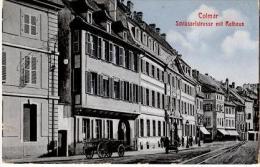 S118/COL - CPA COLMAR - Schlüsselstrasse Mit Rathaus - Colmar