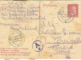 POSTKARTE, Wunstorf  1944, PRIGIONIERI DI GUERRA, PER TRESIGALLO, FERRARA - Oorlog 1939-45