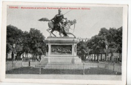 ITALIE . TORINO . MONUMENTO AL PRINCIPE FERDINANDO DUCA DI GENOVA - Réf. N°8289 - - Palazzo Carignano