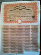 Lot De 2 AZIENDA NAZIONALE IDROGENAZIONE COMBUSTIBILI - A.N.I.C. Titre Au Porteur - Siège à Rome - Electricité & Gaz