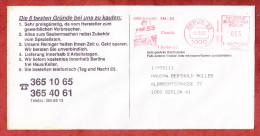 Infopost, Francotyp-Postalia F19-9655, Gut Zu Fuss SM-55 Chemie, 33 Pfg, Berlin 1991 (74299) - Berlin (West)