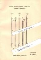 Original Patent - Samuel Henry Crocker In Railton , 1882 , Federhalter Mit Ätzgrundtinte , Füllfederhalter !!! - Schreibgerät
