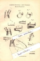 Original Patent - Edmund Pistotnik In Graz , Steiermark , 1882 , Bleistiftspitzer , Bleistift !!! - Schreibgerät