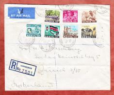 Luftpost, Einschreiben Reco, Taetigkeiten, Morogoro Tanganyika Ueber Nairobi + Dar-Es-Salaam Nach Zuerich 1963 (73778) - Kenia (1963-...)