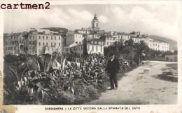 BORDIGHERA LA CITTA VECCHIA DALLA SPIANATA DEL CAPO LIGURIA - Italia