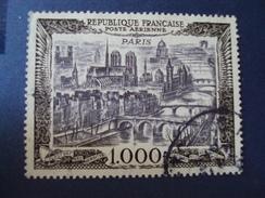 """1950-P.A.-""""Vue De PARIS, 1000 Frs""""   - Ref 29 Oblitéré- Cote 30- Net 10 - 1927-1959 Usati"""