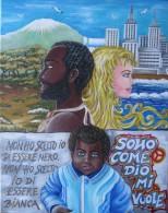 THE BLACK AND WHITE - TECNICA ACRILICO  SU TELA  40 X 50 - ARTISTA TIZIANA PANTALONE - Acrilici