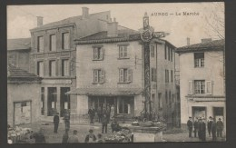 AUREC - Le Marché / Animée  / Voyagée En Mai 1916  /  Visé Par Le Service Interprète Monistrol - Other Municipalities
