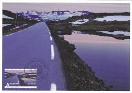 Norway Maximum Card Mi 1716 Valdresflye Road - Mount - Lake First Day Cancellation - 2010 - Tarjetas – Máximo