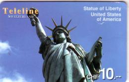 SUISSE PREPAID TELELINE STATUE LIBERTE LIBERTY NEW YORK 10FCH UT