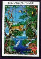 NICARAGUA   2210 MINT NEVER HINGED MINI SHEET OF WILDLIFE & ANIMALS ; ENDANGERED SPECIES - Stamps