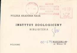 Berlin, Frankierung Meter Stamp, Nature University To Library Of Institute Of Zoology Of Polish Academy Of Sciences 1980 - Briefe U. Dokumente