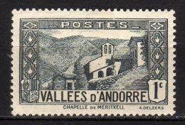 ANDORRA - 1932/43 Scott# 23 * - Andorre Français