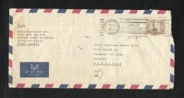Saudi Arabia Air Mail Postal Used Cover Slogan Postmark  Hafr To Pakistan - Saudi Arabia