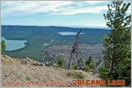 Newberry Caldera, With Paulina Lake, East Lake, And Big Obsidian Flow,USA, Oregon. Volcano Lake Postage Card 3268-16 - Postkaarten
