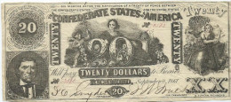 STATI CONFEDERATI D�AMERICA  20 $  1861  P.33       XF / BB-qSPL HOLES