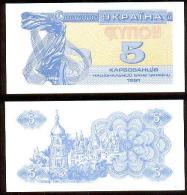 Ucrania 5 Karbovanets 1991 Pk-83-a UNC - Ucrania