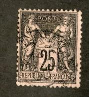 3874  France 1886  Mi.#80  (o)  Scott #100  Offers Welcome! - 1876-1898 Sage (Type II)