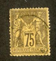 3897  France 1890  Mi.#82  (o)  Scott #102  Offers Welcome! - 1876-1898 Sage (Type II)