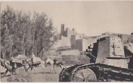 Armée D´afrique,maroc,char De Combat Accompagnant Une Colonne De Ravitaillement En 1917,rare - Morocco
