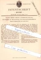 Original Patent - T. Henry Cobley In Dunstable , England , 1882 , Herstellung Von Mineralischem Weiß !!! - England