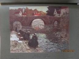 Quimperle 1905 Peinture  Peintre  Frits Thaulow   LES LAVEUSES A QUIMPERLE - Quimperlé