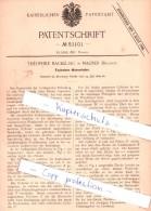 Original Patent - Theophile Backeljau In Malines / Mechelen , 1889 , Explosions-Wasserheber !!! - Mechelen