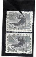PLF174 PLATTENFEHLER ÖSTERREICH 1963  ANK 1166 Weißer RAND Um Die HAUBE Mit VERGLEICHSSTÜCK - Abarten & Kuriositäten