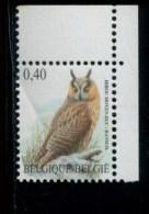 301752344 BELGIE POSTFRIS MINT NEVER HINGED POSTFRISCH EINWANDFREI OCB 3737 Uil Hibou - 1985-.. Birds (Buzin)