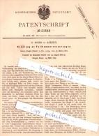 Original Patent - H. Meier In Aerzen , 1882 , Fallhammersteuerung , Hameln-Pyrmont !!! - Deutschland