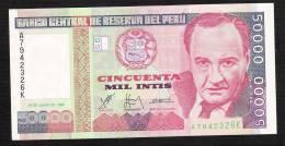 PEROU PERU  P142  50.000  INTIS   1988  SERIE A        UNC. - Pérou